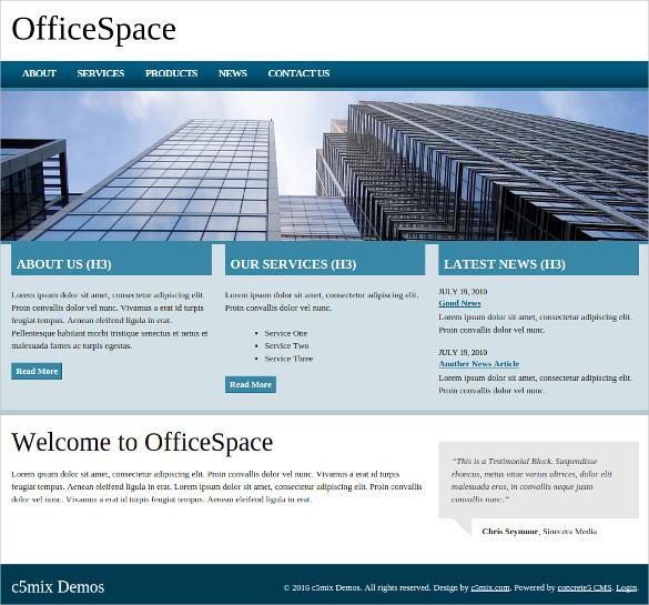 professional office concrete5 theme 35