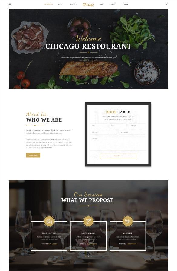 delicious restaurant blog theme