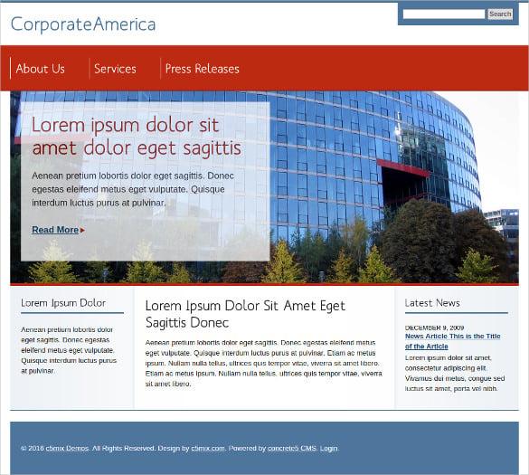 corporate website concrete5 theme 35