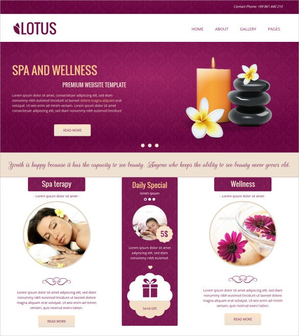 spa wellness concrete5 theme 48