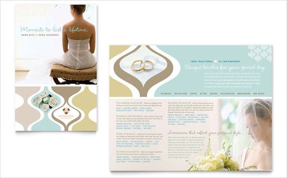 wedding store supplies brochure template