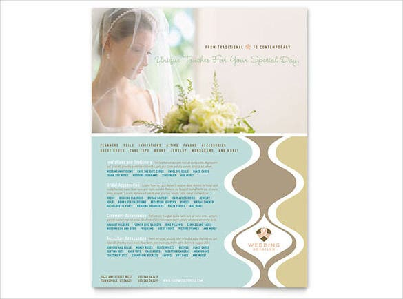 wedding store supplies flyer template