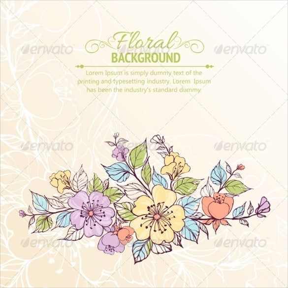 designed flower background for download