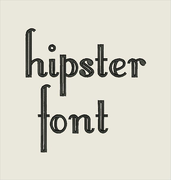 hipster retro font instant download