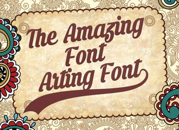 amazing arting retro font ttf download