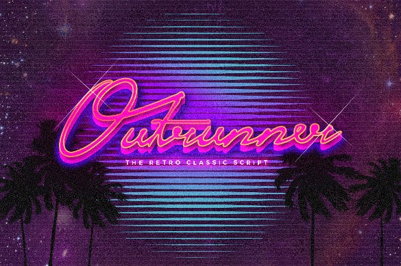 outrunner retro font ttf download