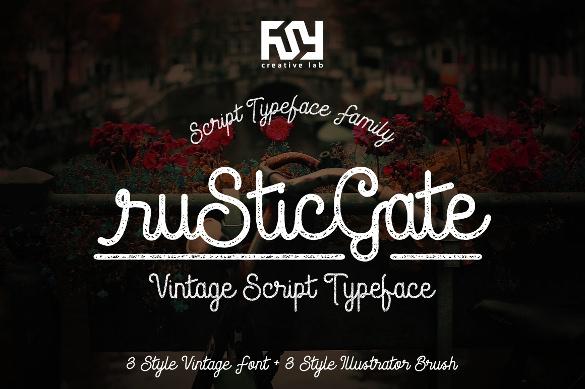 rustic gate vintage retro font ttf download