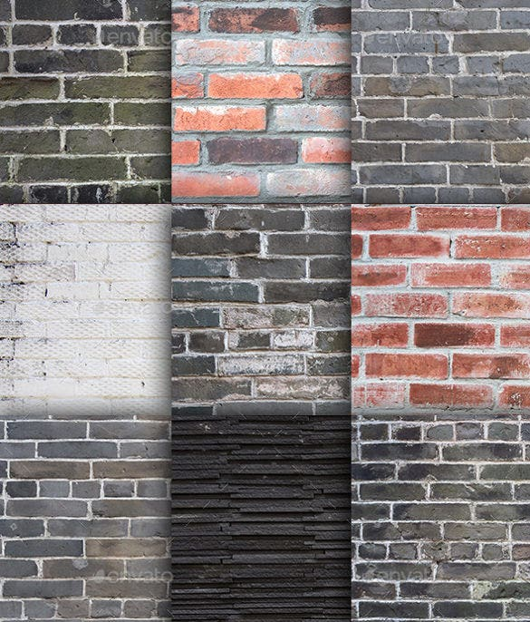 12 hi resolution brick textures pack download