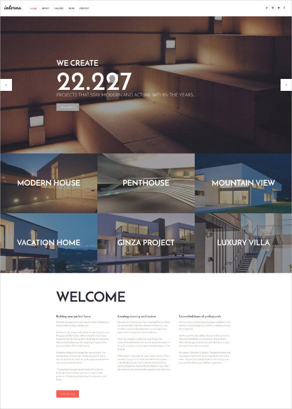 interna wordpress theme