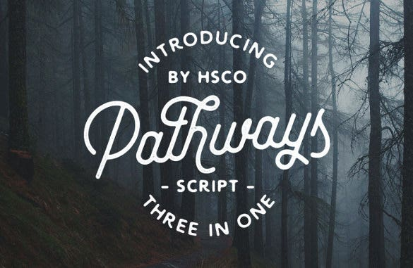 pathways retro font download