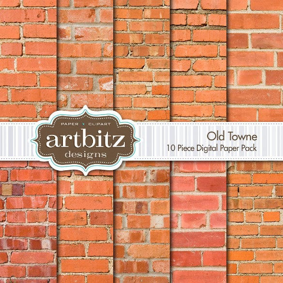 10 piece brick texture set download