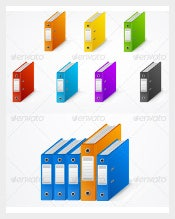 Set of Colourfull Ring Binder Cover Sheet Download1