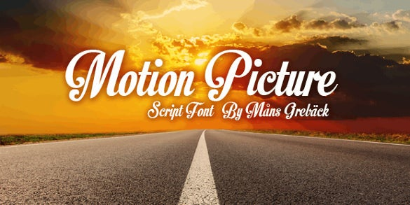 motion picture personal use retro font