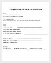 Sample Confidential Cover Sheet Free Download1