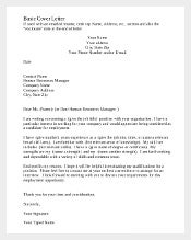 Example Basic Resume Cover Letter Download1