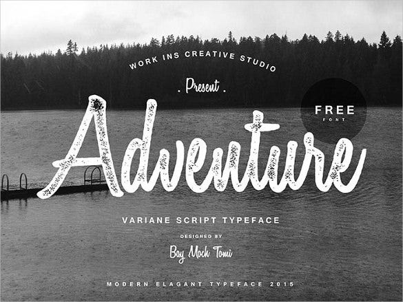 variane script retro font free download