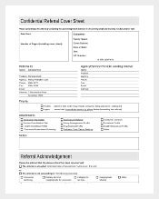 Confidential Referal Cover Sheet Free Download1
