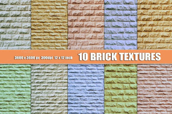 10 colourful brick textures download