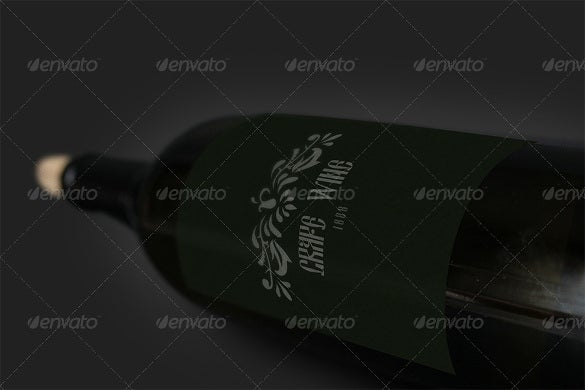 opened wine mockup hd background download