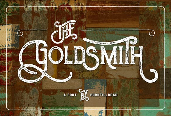 goldsmith vintage retro font download