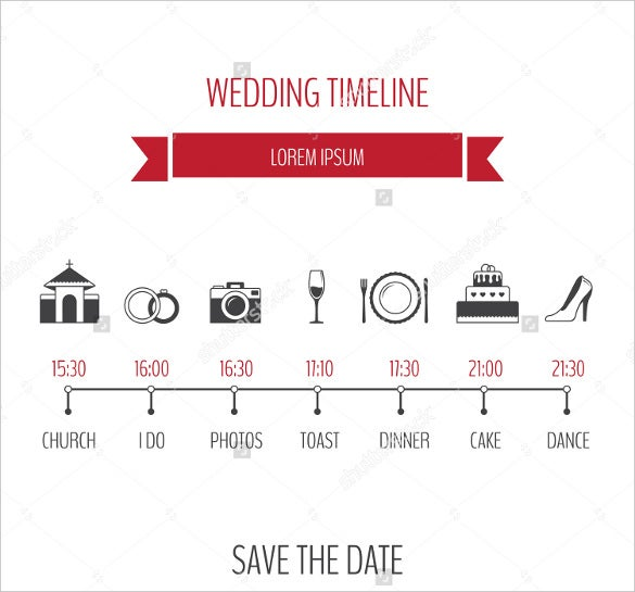 Wedding Timeline Templates Free Sample Example Format - Plain timeline template
