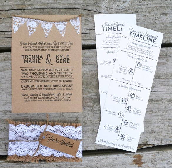 wedding timline template free download