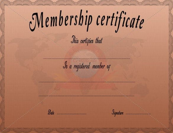 membership certificate template free pdf format download