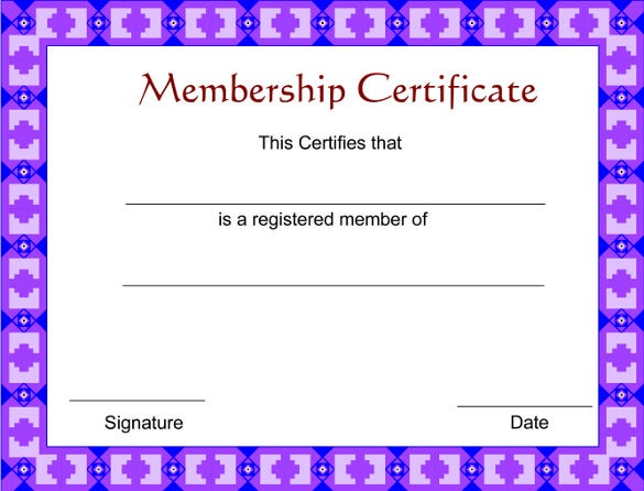 download free certificate of membership template pdf format