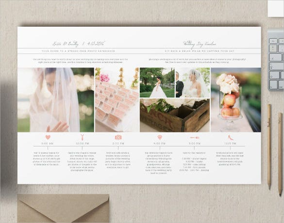 wedding day timeline template download