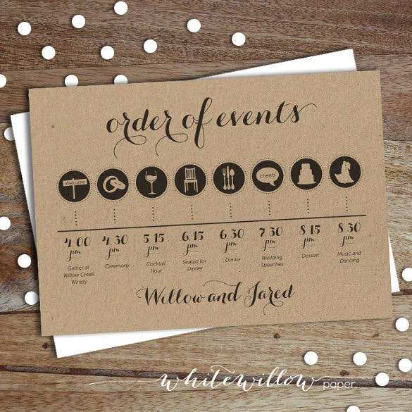 easy to edit wedding timeline template download