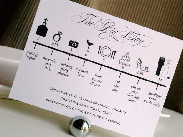 professional wedding timeline template1