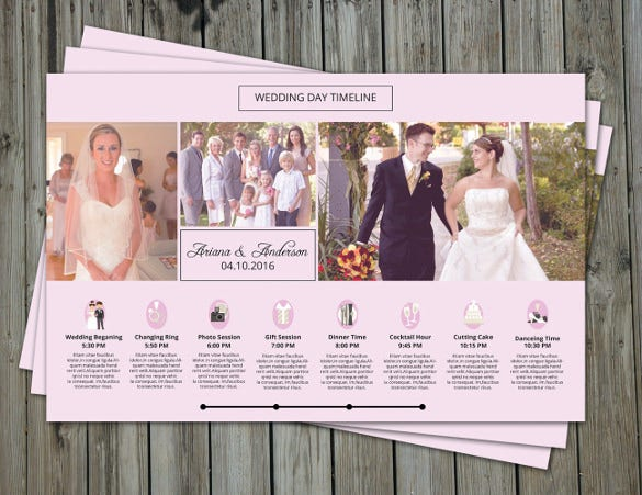 easy to download wedding timeline template