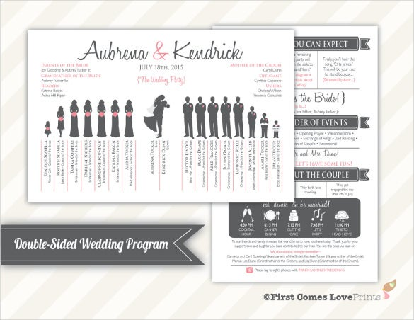 wedding timeline template for download