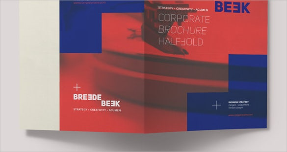 bi fold brochure template download