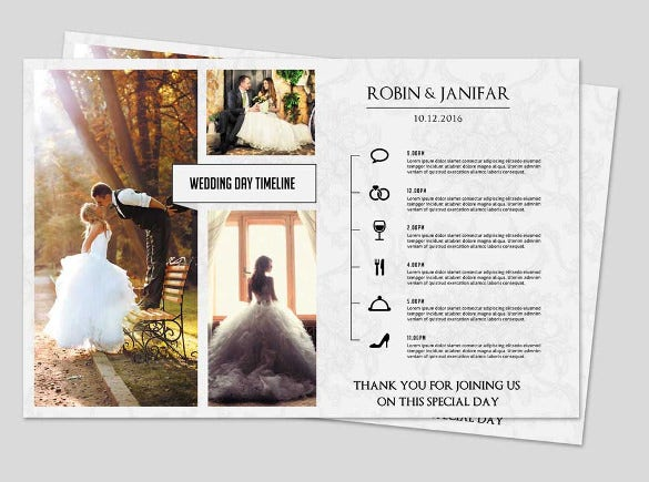print ready wedding itinerary template