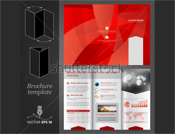 dark coloured brochure template download