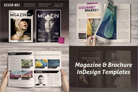 8 in design magzine brochure template