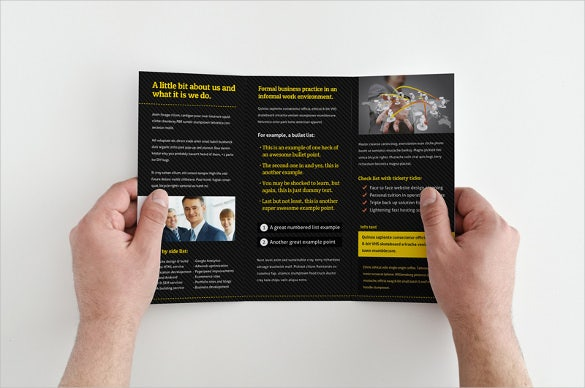 trifold business brochure template downloadd