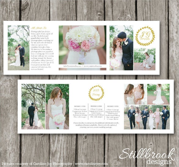 photography brochure template download