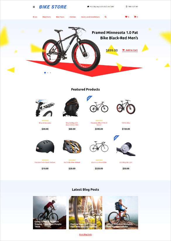 e commerce cycling responsive opencart template