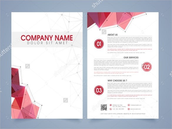 brochure template for corporate sector