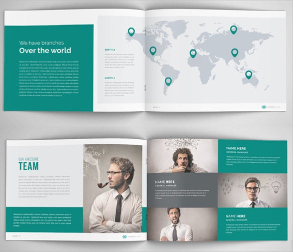 annual report brochure template download