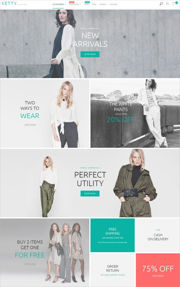 e commerce fashion clothes store magento theme