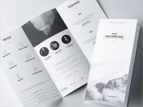 minimal brochure template download