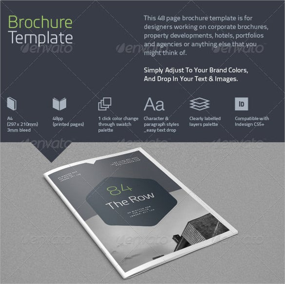 48 page brochure template download