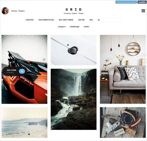 gallery responsive portfolio tumblr theme 321