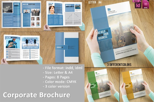 colorful corporate brochure template