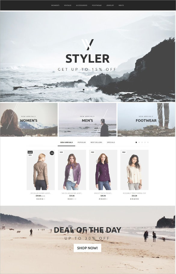 e commerce styler prestashop theme