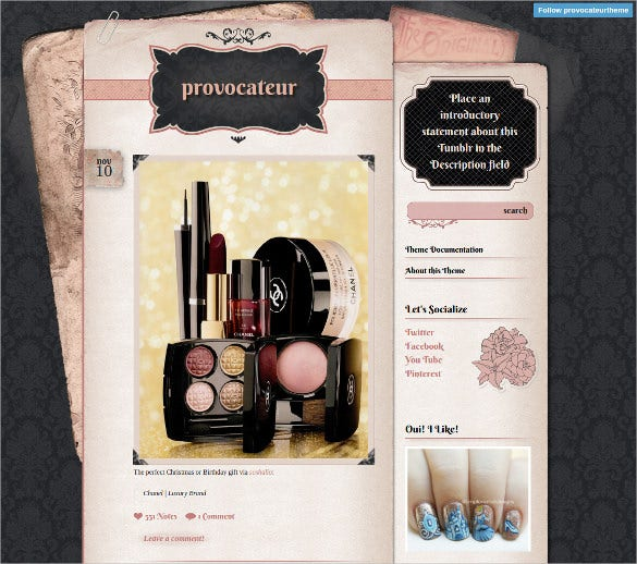 vintage beauty tumblr theme 15