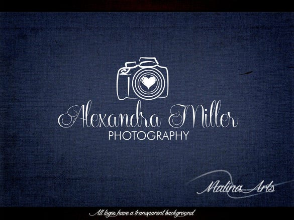 miller photography logo instant download